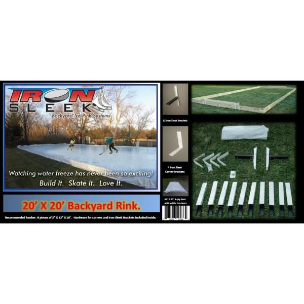Iron Sleek 20 X 20 Skating Rink Kit