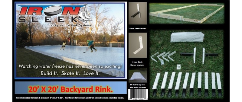 Iron Sleek 25 X 30 Skating Rink Kit