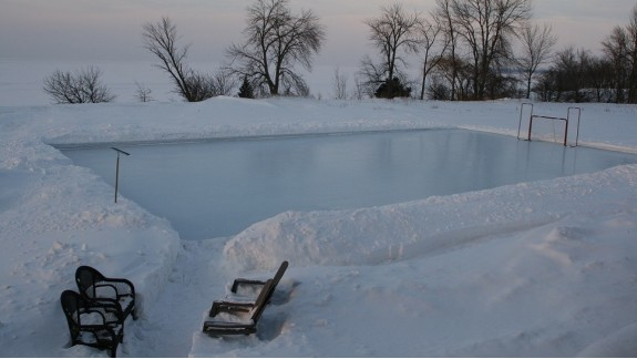 Lovely Backyard Ice Rink
