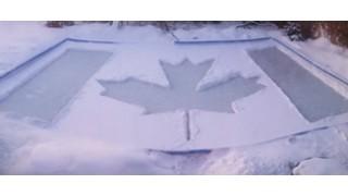 Canada rink shovelling fun
