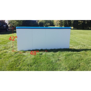 "Iron Sleek 42"" Tall Rink Board 10 pk."