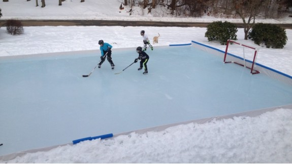 Charmant Backyard Ice Rink