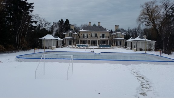 Nice Backyard Rink Dreams