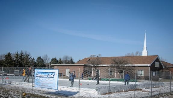 church ice skating rink