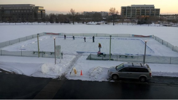 corporate ice skating rink
