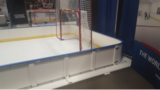 Free Standing Poly Steel Border with Synthetic Ice