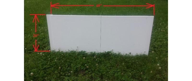 """Iron Sleek 20"""" Tall Rink Board"""
