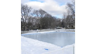 Community Iron Sleek Rink Patch in the retention pit