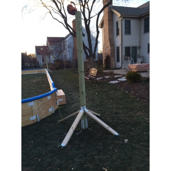Backyard Rink Lighting: Use This Post Kit To Mount Lights Or Other Decorations