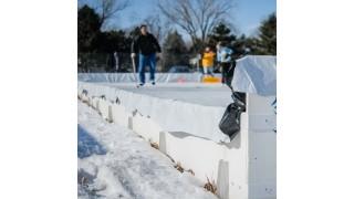 No tripping hazards...what an ice rink bracket!!