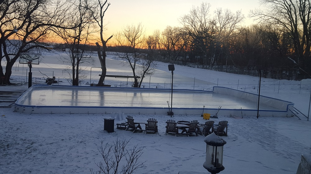 Backyard wonderland ice rink