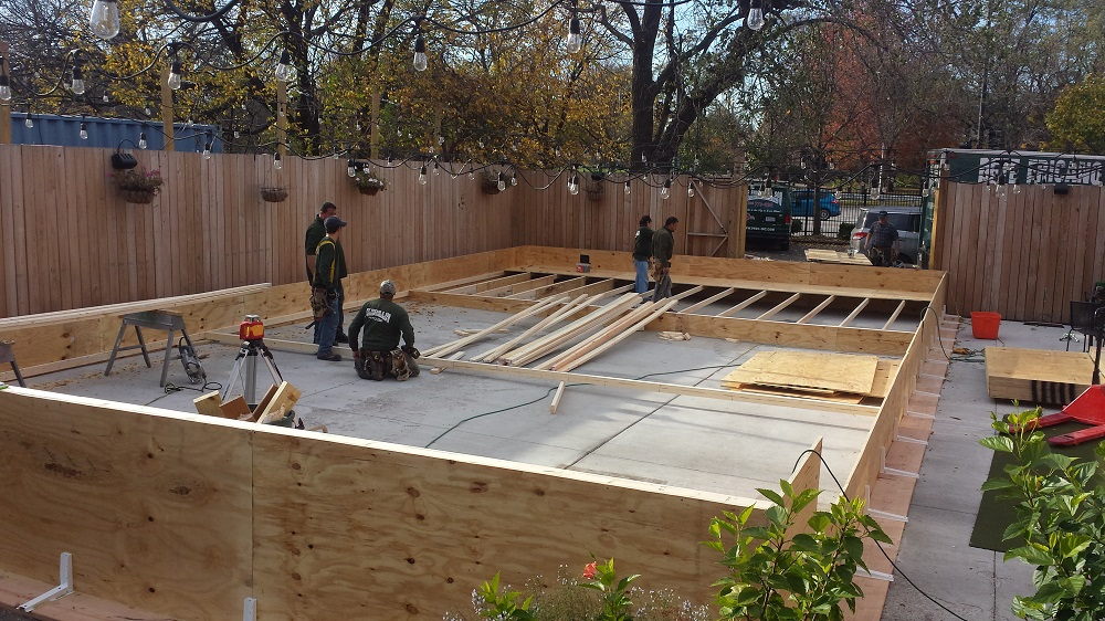 Bon A Platform Is A Great Way To Build A Rink Over Your Pool. Below Are A Few  Example Of Rink Platforms.