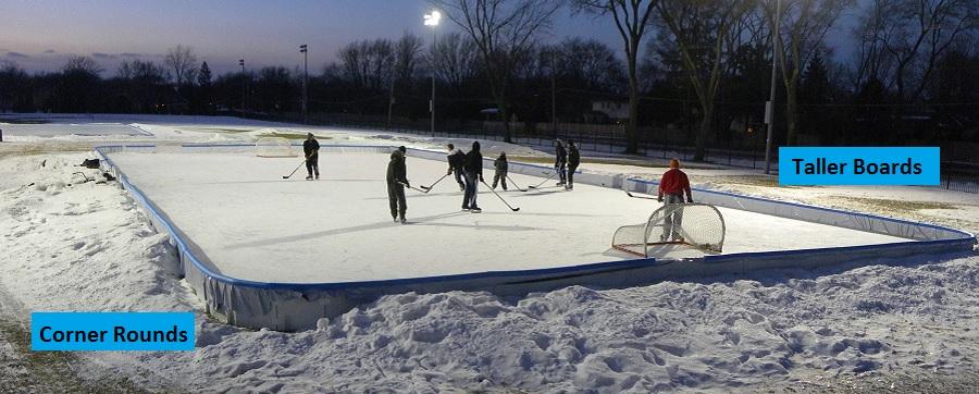 Backyard Ice Rink Installation : yard hockey rink nicerink back yard ice rink back yard hockey rink ice