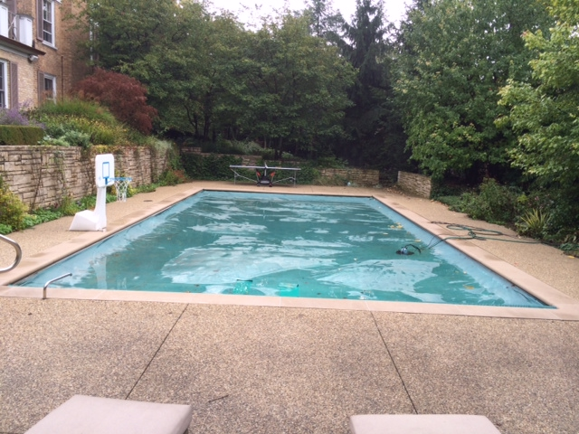 ice rink on pool before picture